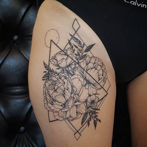 Tatuaje lineal 21